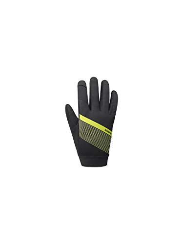 Autres Shimano Gants Wind Control Noir/Jaune Fluo T/L