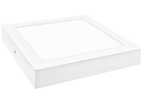 Panel LED de superficie Plafon Cuadrado 20w. Color Blanco Frío (6500K). 1800 lumenes. A++