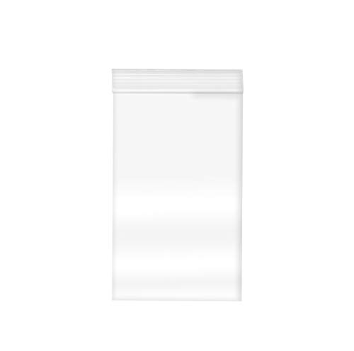 Reclosable Clear Plastic Zip Bags - by DiRose   Resealable, Strong, Thick, Sturdy, Food Safe   for Organizing, Travel, Shipping, Packaging, and Storage   3X5   100 Pack