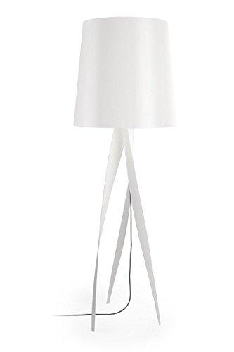 175 cm Design-Stehlampe Medusa Farbe (Schirm): Weiß, Farbe (Ständer): Weiß