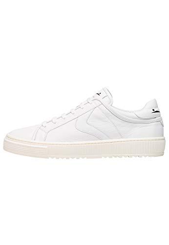 Visillo blanco para FiT-Sneakers de piel de vacuno, Blanco (blanco), 42 EU