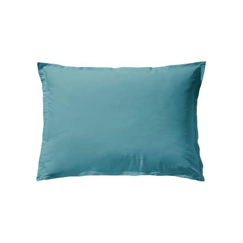 ESSIX Tendresse - Funda de Almohada (50 x 70 cm, algodón), Color Azul