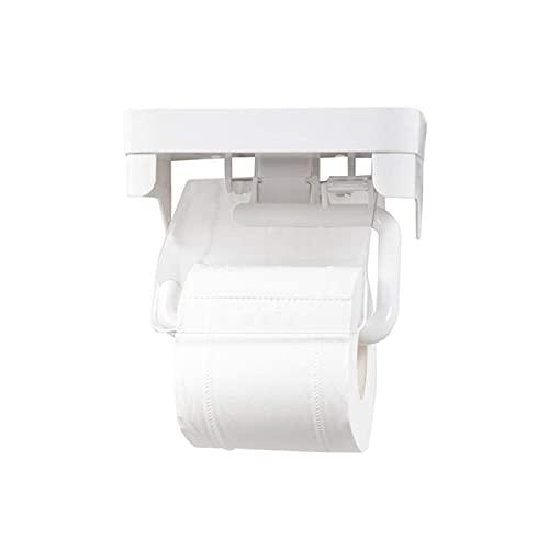 Soporte para papel higiénico Tabla de la caja de tejido Tapa de inodoro Sin soporte de tejido de perforación Instalaciones de baño Montado en la pared para el hogar o la oficina decorativa de la ofici