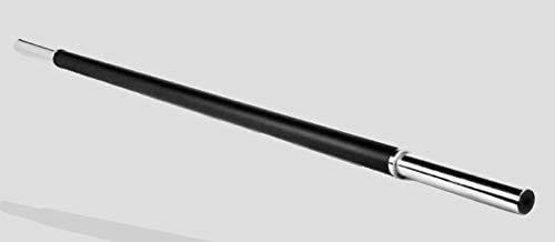 Barra de 28 mm de Body Pump, Acero Resistente, Recubierto de Caucho, 2 topes, 140 cm 28 mm diametro