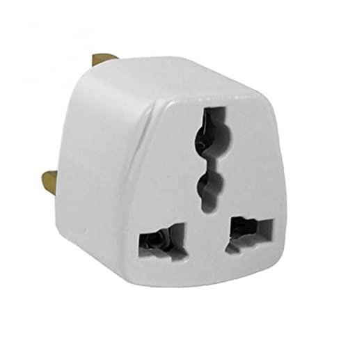 Converter Universal Travel Plug Adaptador Estándar Reino Unido Transposición Adaptador Adaptador de enchufe portátil Tipo de adaptador blanco