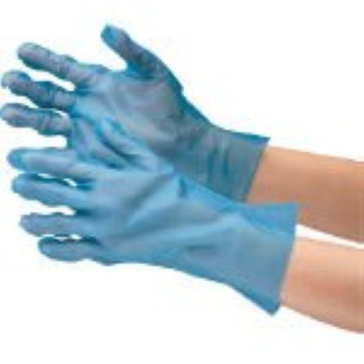 珍しいレイアピルファーミドリ安全/ミドリ安全 ポリエチレン使い捨て手袋 外エンボス 200枚入 青 L(3915298) VERTE-576-L