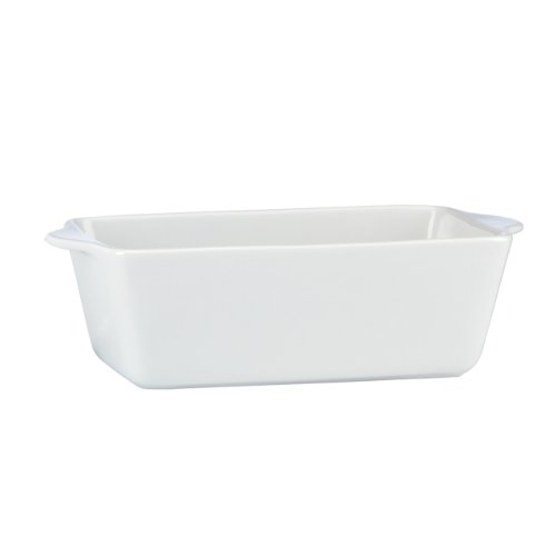Mario Batali by Dansk Stoneware Loaf Pan, 10 by 5-Inch, White