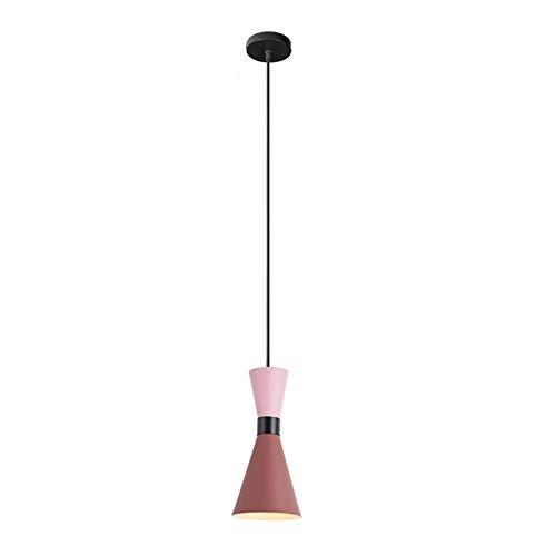 LIUYU Luces Pendientes cenar Entrega de Habitaciones Colgante lámparas Cocina del Restaurante Lámpara de Mano LED Luminaria Suspendu lámpara Industrial (Body Color : 3, Size : Gratis)