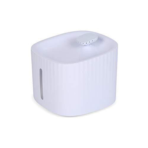 Kongqiabona-UK Fuente de Agua para Gatos, dispensador de Fuente de Agua para Perros y Mascotas, Bomba de líquido de 3L e indicador LED, Ventana de Nivel de Agua para Alerta de escasez de Agua