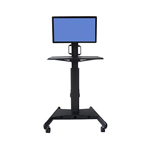 Soporte de montaje del monitor Monitoree el carrito móvil 15 '-34' Monitor de pie Soporte de montaje de soporte de montaje de altura ajustable altura con ruedas y soporte de teclado Soporte de monitor