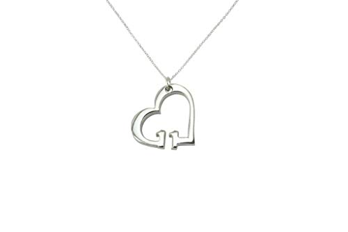 11 Year Wedding Anniversary Necklace - Heart Shaped with 11 Year Cut Out...