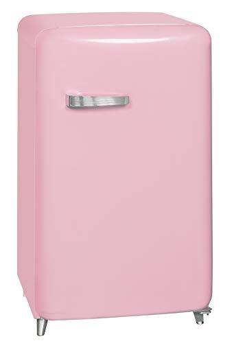 Exquisit RKS 130-11 A++Rosa Retro-Kühlschrank/EEK: A++/4* Gefrierfach/121 Liter/ Retro-Handgriff/Rosa