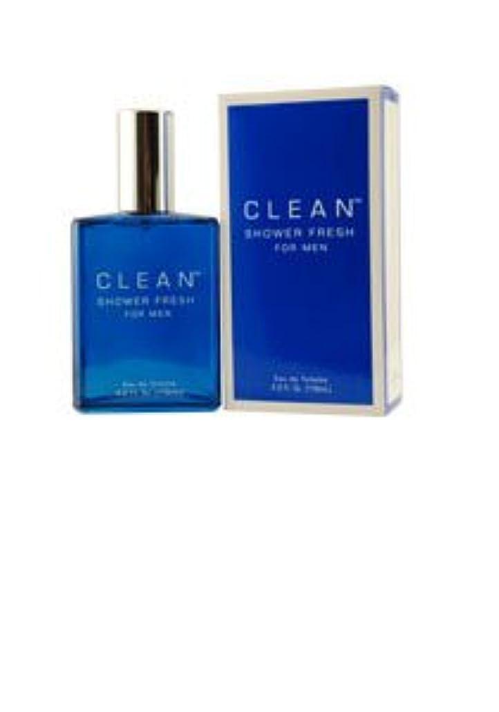 忙しい尽きるボトルネックClean Shower Fresh (クリーン シャワーフレッシュ) 3.4 oz (100ml) EDT by CLEAN for Men