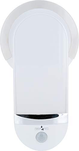 SCHWAIGER -661613- LED luz nocturna | luz de emergencia | linterna | detector de movimiento | sensor de inducción para el enchufe | luz para dormir | sensor de luz | luz multifuncional