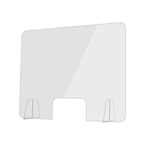 INTLPHARMACY Mampara de Metacrilato Mostrador 4mm Protección para Oficinas Mostradores Manicura Sobremesa Material Transparente (100 X 80 cm)