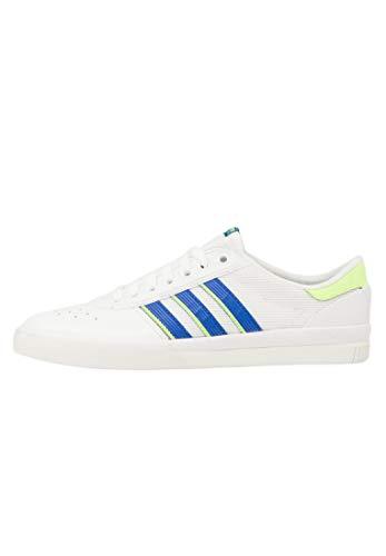 adidas Skateboarding Lucas Premiere, Footwear White-Glory Blue-Signal Green, 7,5