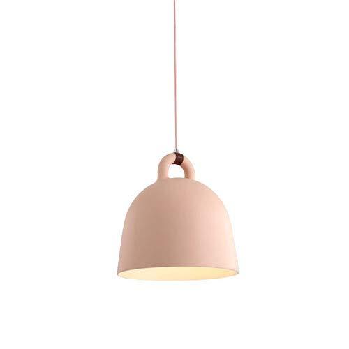 NAMFMSC Lámpara colgante de resina de una sola cabeza con campana de polvo gris blanco y negro de 8.66 pulgadas 9.45 pulgadas Mesita de noche minimalista moderna E27 Luz colgante de luz cálida Luces d