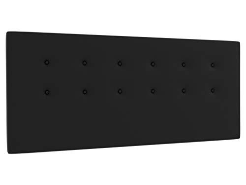 LA WEB DEL COLCHON - Cabecero tapizado Siros para Cama de 150 (160 x 70 cms) Negro | Cama Juvenil | Cama Matrimonio | Cabezal Cama |