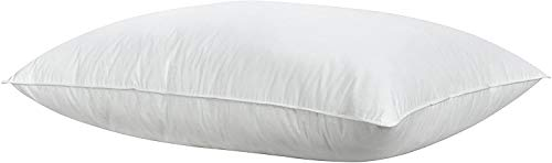 Casatex Almohada de Plumas de Pato Blanco, antiácaros, Lavable, firmeza Suave, Funda de PERCAL 100% Pure algodón - Medida 50x80 cm