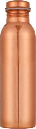 100% Pure Copper Water Bottle Ayurvedic Water Copper Bottle - Leak-Proof Water Bottle Seal Cap, Joint Free Copper Bottle 32 Oz Hammered) (Hammered) 900 ML (Plain)