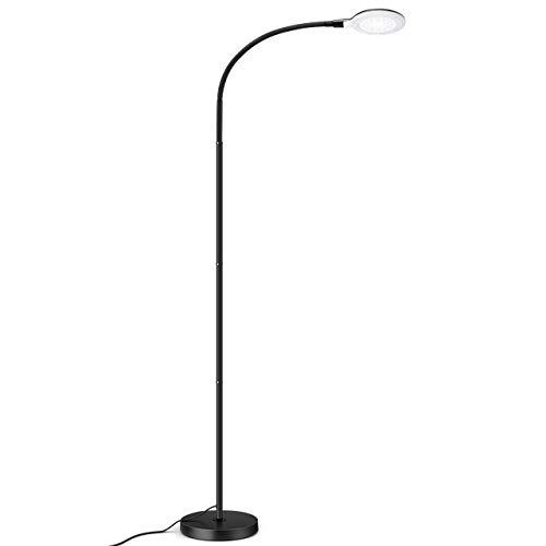 Stehlampe, 2019 Upgrade 8W dimmbare LED Standleuchte mit 3 Farbmodi, 5-Helligkeiten,Stehleuchte Modern flexiblem Schwanenhals für Wohnzimmer, Büro, Schlafzimmer Wohnheim, Lesen, Malen