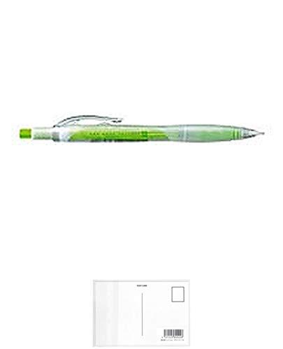 コクヨ シャープペンシル コロレー 軸色:グリーン F-VPS103G 【まとめ買い10本セット】 + 画材屋ドットコム ポストカードA