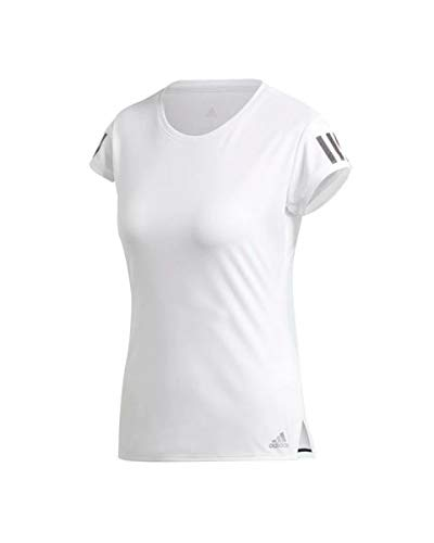 adidas Club 3 Str tee Camiseta de Manga Corta, Mujer, White/Matte Silver/Black, M