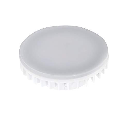 LED-Lampe, 7W, GX53,Tageslicht, kaltweiß, energiesparende Unterschrankbeleuchtung für die Küche, Ersatz-Leuchtmittel, GX 53,Stil: Runde Scheibe, 240V, Direkter Ersatz für Kompaktleuchtstofflampe 9W, 7W oder 13W