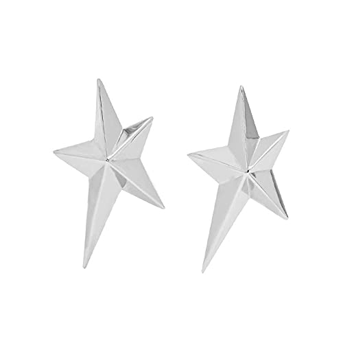 YFZCLYZAXET Pendientes Mujer Pendientes De Metal Pendientes Casuales De Moda Clips para Los Oídos Pendientes Simples-Pares-Plata