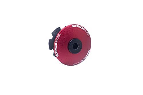 Sixpack Menace Aheadcap Fahrrad Steuersatzkappe rot