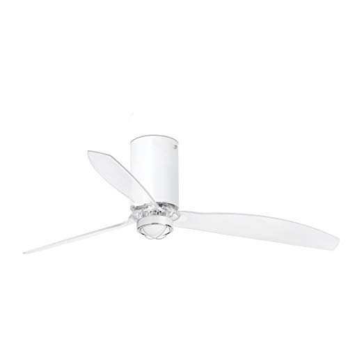 Faro Barcelona 32039-9- MINI TUBE FAN LED Ventilador de techo blanco mate/transparente con motor DC