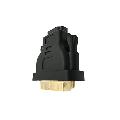 LjzlSxMF Profesional DVI-I a HDMI Adaptador Macho a Hembra Adaptador Cable Chapado en Oro HDMI Adaptador convertidor Inicio Gadget