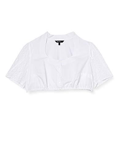 Ulla Popken Duże rozmiary damska bluzka do stroju ludowego Dirndl bluzka z koronkowymi rękawami