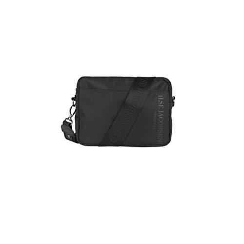 Ilse jobsen | Leuke en coole nylon tas met 3D-logo. Verstelbare en verwijderbare nylon band met toon logo | Zwart