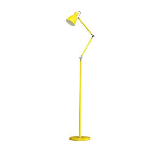 Casa, la novedad de suelo Light- Lámpara de pie, de hierro Brazo largo interruptor de pedal plegable E27 estadounidense minimalista Estudio Lectura Trabajo ojo Lámpara de pie Iluminación / ganso amari
