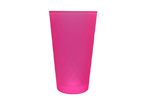Farbiges-Apfelweinglas, 500 ml, Farbe Pink, Glas für Wasser/Weinglas perfekt geeignet, die perfekte Geschenkidee