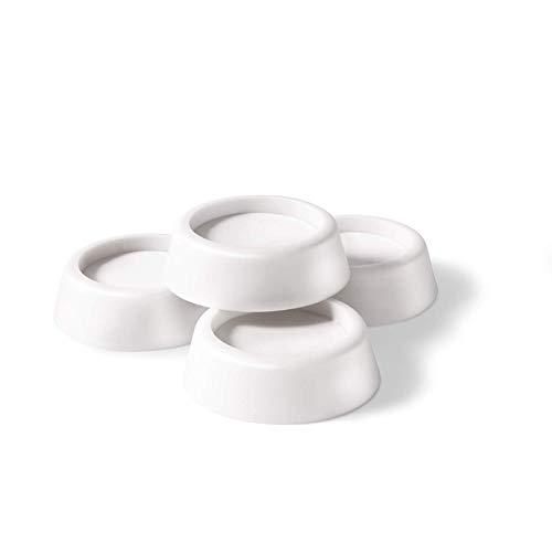 Ideaworks Washing Machine Antivibration pads - Washing Machine Stabilizer - Anti-Walk Dryer & Washer Vibration Pads - Silent Feet Non-Vibrant - Sleeker Design than Washing Machine Stand or Mat - White