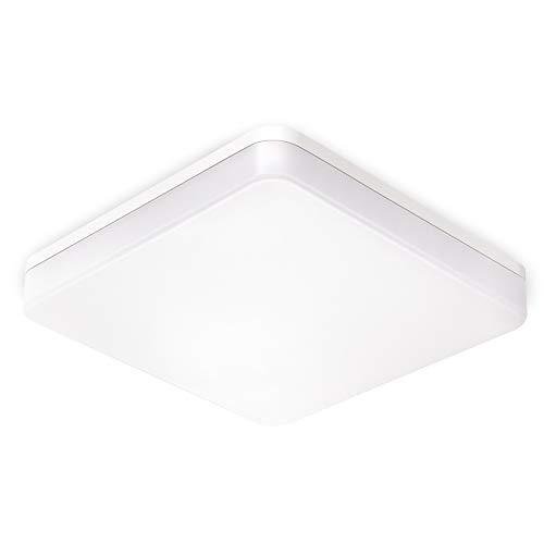 BBounder 15W LED quadrate Deckenlampe,IP54 wasserdichte Badlampe,4000K kaltweiße Deckenleuchte,1280lm Lampe,geeignet für Badezimmer Küche Wohnzimmer Balkon,Ø22cm