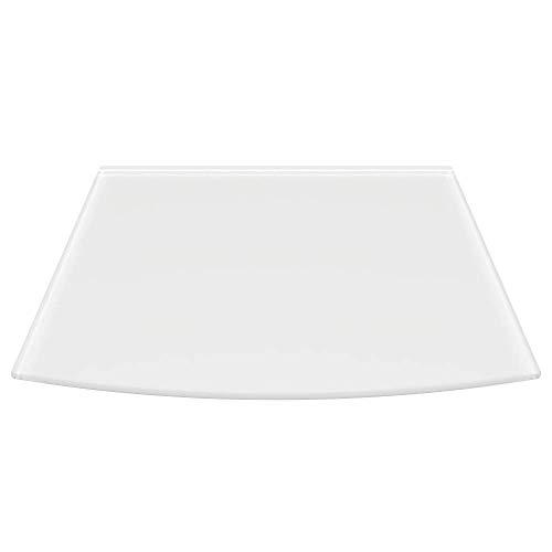 Milchglas Glasbodenplatte Funkenschutzplatte Kaminplatte Glas Ofen Platte Bodenplatte Kaminofenplatte Unterlage (Milchglas Segmentbogen 100x120cm [SB100/120])