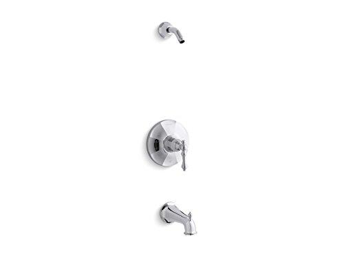 Kohler K-TLS13492-4-CP KELSTON Rite-Temp-Embellecedor de válvula de baño manija de Palanca y caño, Menos alcachofa de Ducha, Cromado Pulido