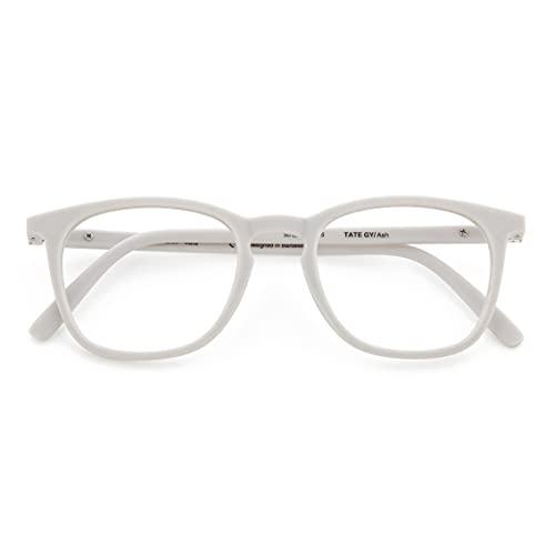 DIDINSKY Gafas de Presbicia con Filtro Anti Luz Azul para Ordenador. Gafas Graduadas de Lectura para Hombre y Mujer con Cristales Anti-reflejantes. Ash +1.5 – TATE