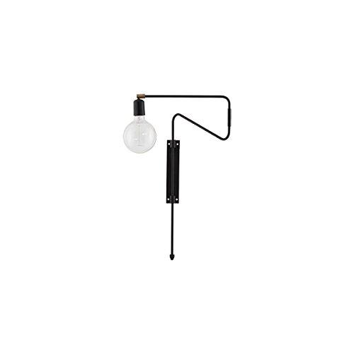 House Doctor Wandleuchte Swing 35 x 5.5 cm Schwarz