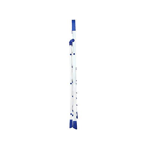 Happer Premium Foldable Aluminium Step Ladder, Clamber Pro, 5 Steps (Blue & Satin)