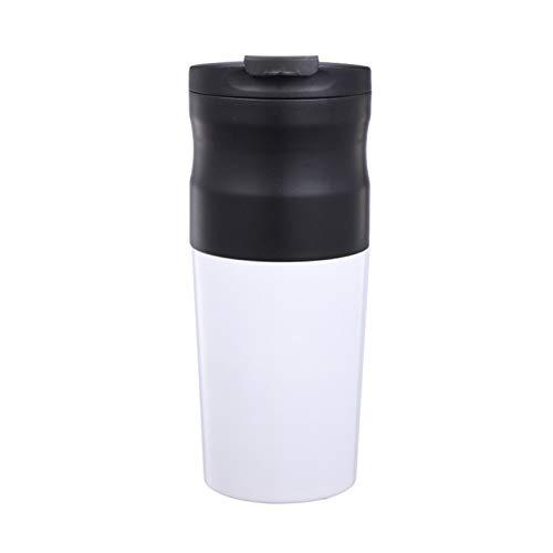 NAFE Lame Grinder, électrique Lame Moulin à café, Noir, Facile à Nettoyer, Interface USB, Tasse de café White
