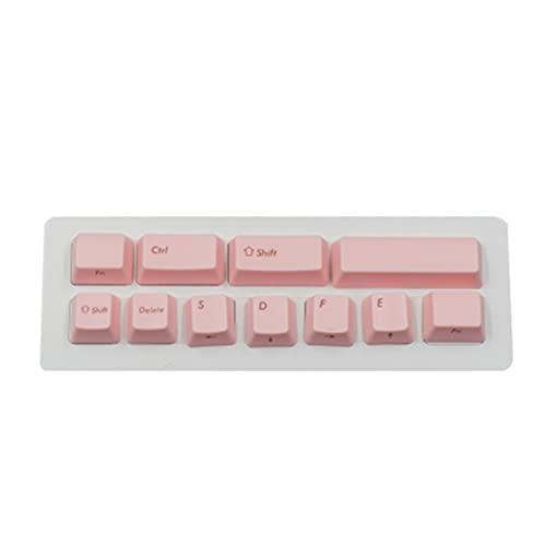 Conjunto de Llaves KeyCaps de ABS Colorido para el Teclado mecánico 11 Llaves de Llaves 2 Teclas Teclado keycaps (Color : Pink)