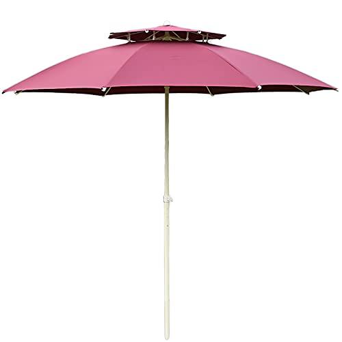 Riyyow Paraguas Parasol Paraguas 9 pies Paraguas a Prueba de Viento a Prueba de Viento con Dosel Doble, Paraguas al Aire Libre para Patio de Piscina de jardín