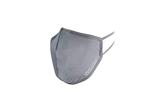 YBUYOO Nano FFP2 R D Maske grau | Premium FFP2 Maske mit spezial Nano Einlage | bis zu 20 x waschbar - wiederverwendbar | CE + ISO zertifiziert | extra atmungsaktiv aus Baumwolle