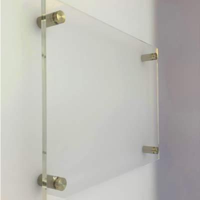 Doppelglas Büroschild DIN A4 / A3 / A5 / A6 / A7 / A8 / Türschild/Praxisschild