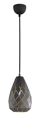 Trio Lighting Colgante Decorativo Moderno Onyx, incluida, Apto para Bombillas LED retrofit, Antracita