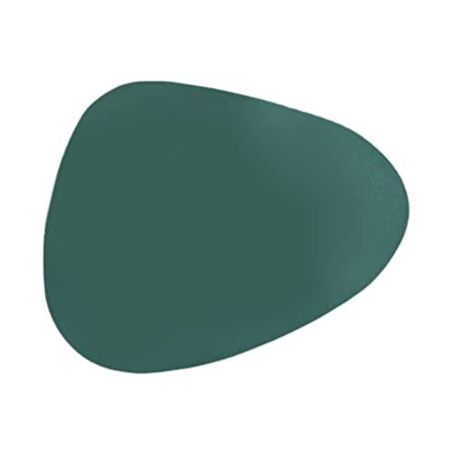 Nobranded Mantel Individual de Cuero de PU de Estilo Nórdico, Estera Triangular de Aislamiento Térmico para Vajilla, Impermeable